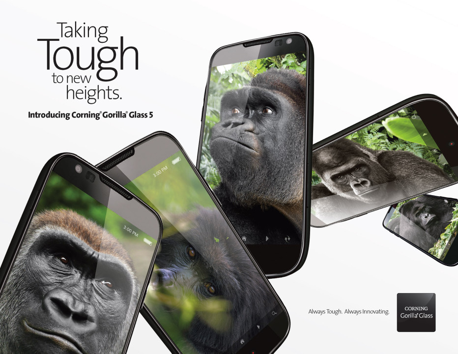 Corning presents Gorilla Glass 5