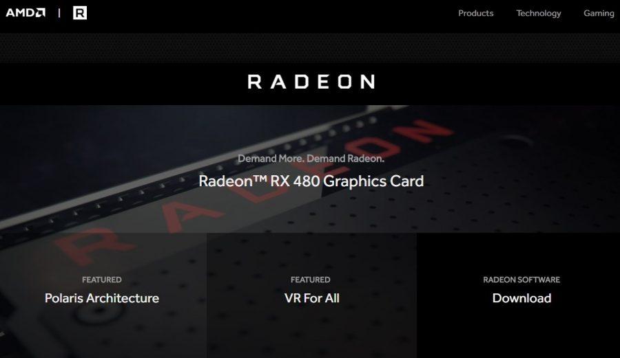 Radeon com web page