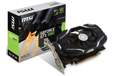MSI announces compact GTX 1060 video card